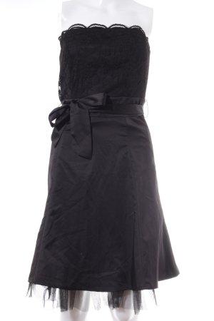 Mexx Corsagejurk zwart bloemenprint feest stijl