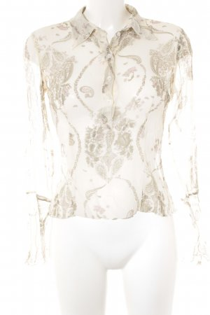 Mexx Blouse en crash motif de fleur style transparent