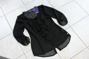 Mexx Damen Bluse Schwarz 3/4 Arm Gr.36