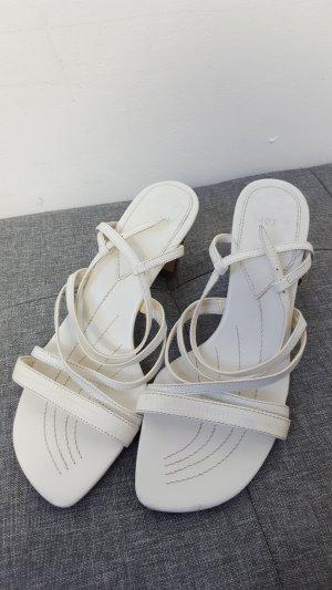 Mexx Damen Sommer Sandaletten Riemchen Sandalen Größe 37 weiß