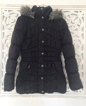 MEXX Daunenjacke Mantel mit abnehmbarer Kapuze * schwarz * Gr. 38 M