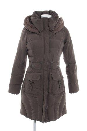 Mexx Manteau en duvet gris brun motif de courtepointe style décontracté