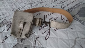 Mexx Leather Belt light grey-oatmeal