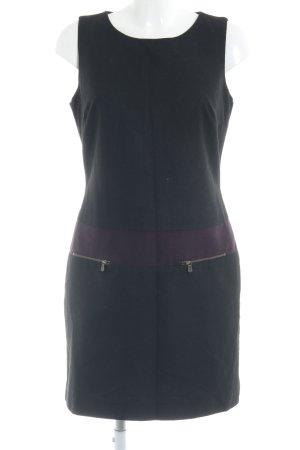 Mexx Etuikleid schwarz-violett Business-Look