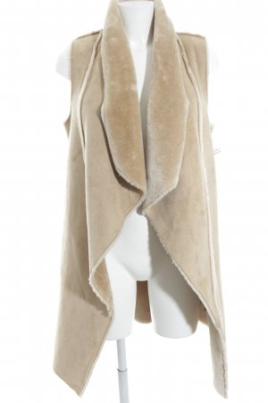 Mexx Fellweste beige Casual-Look