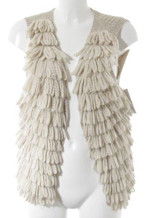 Mexx Fringed Vest cream-oatmeal extravagant style