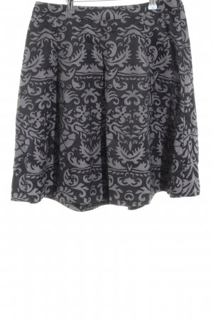 Mexx Flared Skirt black-light grey abstract pattern casual look