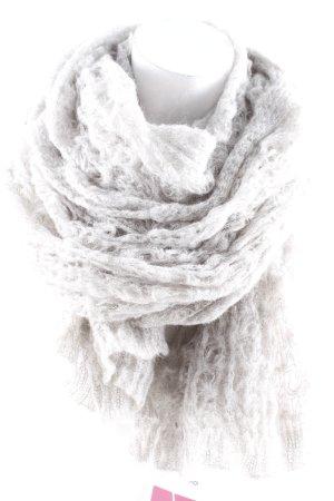 Mexx Gehaakte sjaal lichtgrijs losjes gebreid patroon casual uitstraling