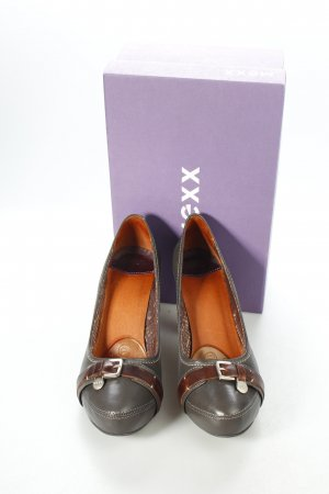 Mexx High Heels grau/mit braun, Business-Look