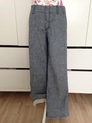 Mexx Hose, Leinen, jeansblau, lang, Gr. 36