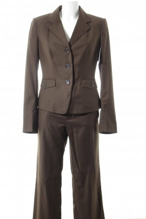 Mexx Trouser Suit dark brown business style