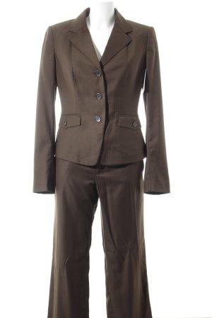 Mexx Traje de pantalón marrón oscuro estilo «business»