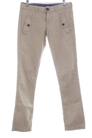 Mexx Pantalone a vita bassa beige stile casual