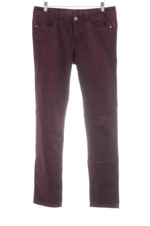 Mexx Pantalon taille basse violet-brun pourpre style décontracté