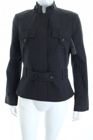 Mexx Jacke anthrazit-schwarz Streifenmuster schlichter Stil