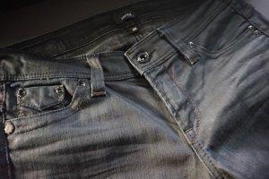 MEXX Jeans schwarz leicht glänzend Slim Fit  Gr. 26