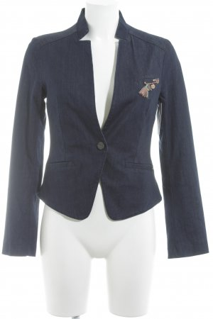 Mexx Blazer en jean bleu foncé style décontracté