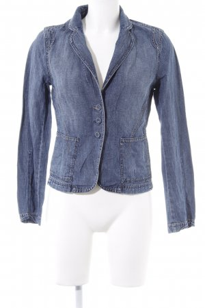 Mexx Denim Blazer steel blue weave pattern casual look