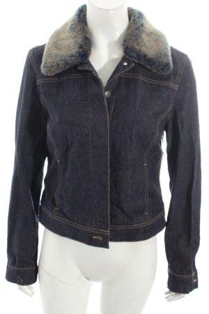Mexx Jeansjacke dunkelblau-wollweiß Street-Fashion-Look