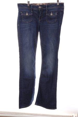 Mexx Jeans a zampa d'elefante blu acciaio-blu scuro stile casual