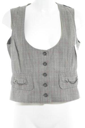 Mexx Gilet en jean motif à carreaux style décontracté