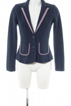 Mexx Jerseyblazer blau-pink grafisches Muster Business-Look