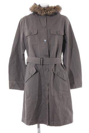 Mexx Cappotto con cappuccio grigio stile casual