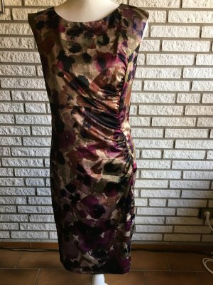 Mexx Kleid 36 schwarz lila gemustert