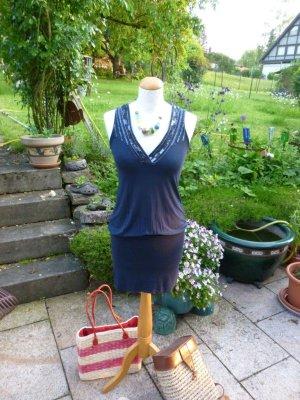 Mexx Off the shoulder jurk donkerblauw
