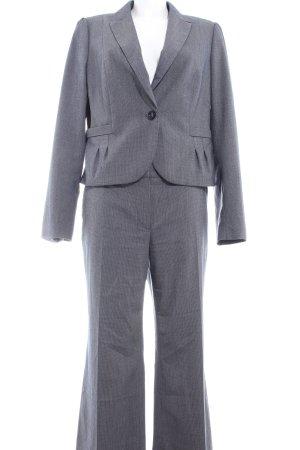 Mexx Kostüm dunkelblau-wollweiß Streifenmuster Business-Look