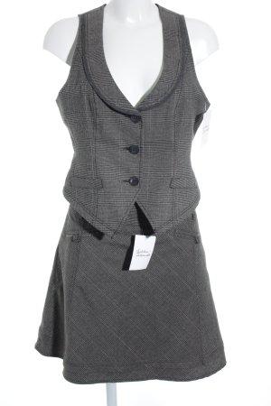 Mexx Kostüm grau-schwarz Karomuster klassischer Stil