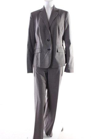 Mexx Kostüm grau-weiß Webmuster Business-Look