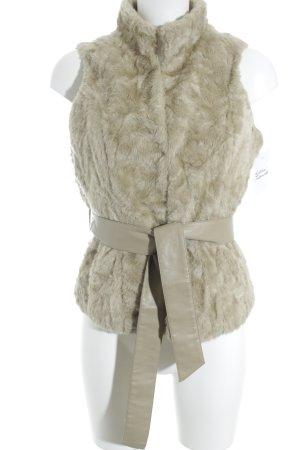 Mexx Vest van imitatiebont camel-lichtbruin casual uitstraling