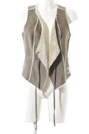 Mexx Smanicato in ecopelliccia marrone-grigio stile casual