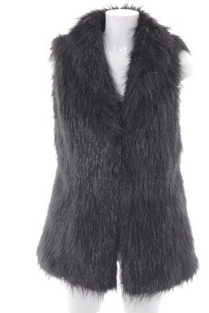 Mexx Vest van imitatiebont zwart elegant