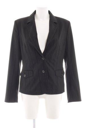 Mexx Blazer court noir-gris clair motif rayé style d'affaires