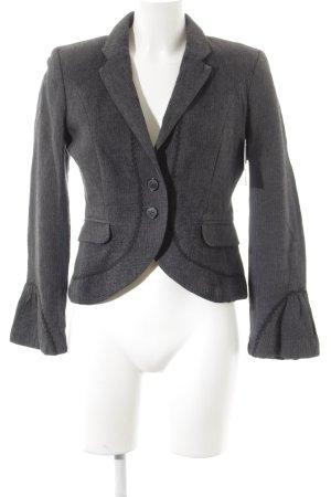 Mexx Blazer corto grigio scuro-grigio chiaro motivo a righe stile professionale