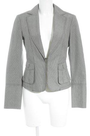 Mexx Kurz-Blazer grau-weiß Streifenmuster Business-Look