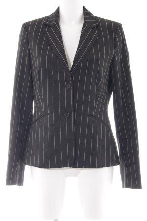 Mexx Kurz-Blazer weiß-schwarz Streifenmuster Business-Look