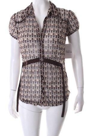 Mexx Kurzarm-Bluse abstraktes Muster schlichter Stil