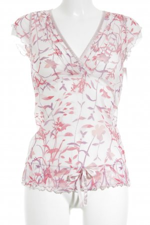 Mexx Kurzarm-Bluse florales Muster Casual-Look