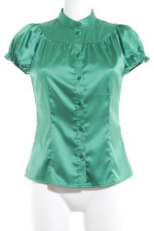 Mexx Kurzarm-Bluse grün Party-Look