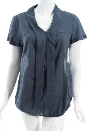 Mexx Kurzarm-Bluse kadettblau schlichter Stil