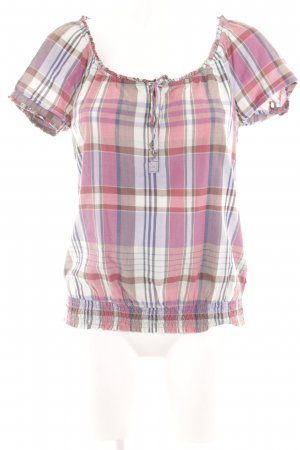 Mexx Kurzarm-Bluse Karomuster Casual-Look