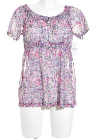 Mexx Kurzarm-Bluse mit Blüte