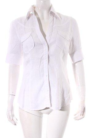 Mexx Kurzarm-Bluse weiß minimalistischer Stil