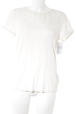 Mexx Kurzarm-Bluse wollweiß Elegant