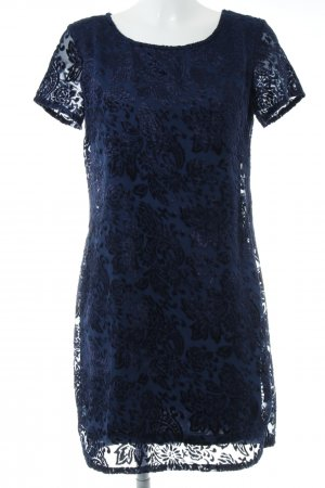 Mexx Kurzarmkleid dunkelblau Blumenmuster Elegant