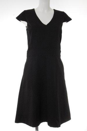 Mexx Kurzarmkleid schwarz-weiß Punktemuster Elegant