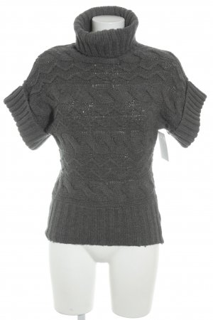 Mexx Short Sleeve Sweater grey cable stitch casual look